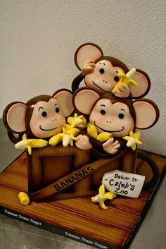 Crate Full of Monkeys Cake