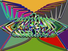 Butterfly glow by Haystack Engineering #art #illustration  #Geometric