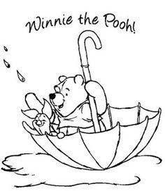 Disney Easter Coloring Pages WINNIE THE POOH DISNEY EASTER