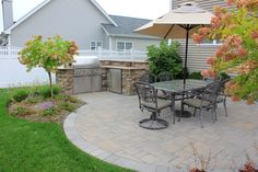 Create an outdoor oasis your whole family will enjoy. Add an outdoor kitchen…