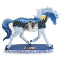 Horse of a Different Color Figurine Wolf Pack