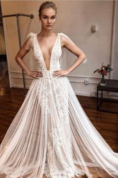 #MUSE stunning wedding dress now available off-the-rack at #BERTA NYC Berta Bridal, Bridal Updo, Sexy Wedding Dresses, Bridal Dresses, Muse By Berta, Lace Embroidery, Bridal Beauty, Beautiful Bride, Tulle