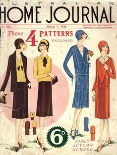 whisters: March 1930 Australian Home Journal. Lovely Flapper...