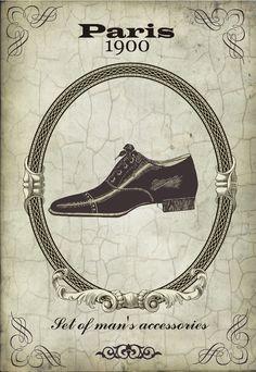 Paris 1900 Man's Accessories ~ Todo transfer (pág. 202) | Aprender manualidades es facilisimo.com