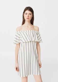 Vestido off-shoulder | MANGO