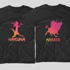 Hakuna Matata  Fan Timon si Pumba? Atunci avem doua tricouri pentru voi pe care sa le purtati cu drag.  Daca tu si cea mai buna prietena vreti sa aveti tricouri personalizate, cu mesaje haioase, ai ajuns unde trebuie! Hakuna Matata, Clothes, Outfits, Clothing, Clothing Apparel, Kleding, Cloths, Coats, Outfit