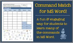 In this interactive Microsoft Word lesson, students in grades 3-8 learn where to find some of the more common ribbon commands. Students drag the correct commands to the proper ribbon tabs.