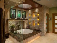 tub from a romance novel WOW Love this bath idea