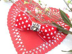 OOAK Kawaii Sweet Lolita Panda Love Heart Ribbon by RootsofBayer,