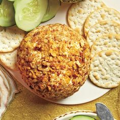 Cheddar-Horseradish-Walnut Cheese Ball | MyRecipes.com You can also shape the cheese mixture into a Yule log.