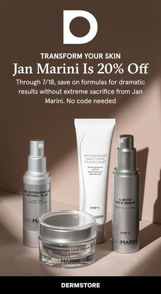 Via 7/18, save on formulations for dramatic results without extreme sacrifice from Jan Marini. No code necessary #HourglassmakeupBrushes #HourglassmakeupSwatch #HourglassmakeupFoundation #HourglassmakeupDupes #HourglassmakeupTutorials #HourglassmakeupEyeshadow Makeup Swatches, Makeup Dupes, Beauty Makeup, Hourglass Makeup, Younger Looking Skin, Smokey Eye Makeup, Face Serum, Makeup Foundation, Beauty Hacks