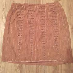 Pale pink embellished mini skirt Lauren Conrad embellished mini skirt. Clear and gray beads. Never worn but no tags. Lauren Conrad  Skirts Mini