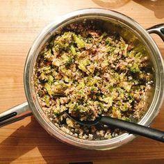 Pohanka s brokolicí a žampiony