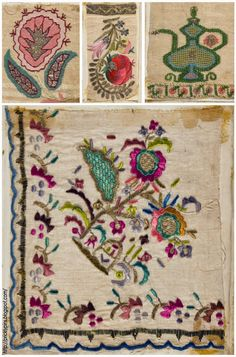Tiny Persian vase with striped blooms. Persian embroidery is one of the many forms of the multi-faceted Persian arts. The motifs. Embroidery Needles, Embroidery Art, Cross Stitch Embroidery, Embroidery Patterns, Crazy Patchwork, Fabric Journals, Turkish Art, Textile Fiber Art, Weaving Projects