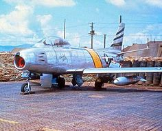 A Korean War North American F-86 Saber.