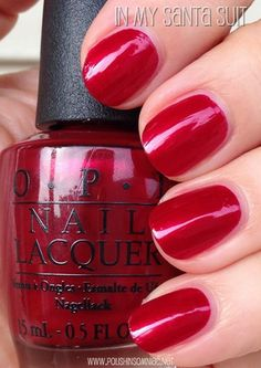 In My Santa Suit is the quintessential Christmas red shimmer. Mariah Carey Christmas collection 2013