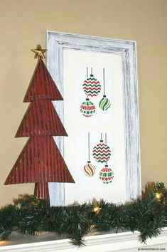 2a52a56b333 14 Impossibly Pretty Christmas Decorations Using Stencils