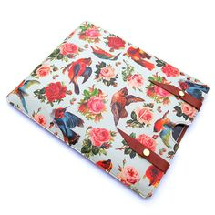 Leather New iPad case  Birds and Roses design by tovicorrie, $100.00