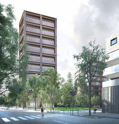 LAN . EURONANTES complex . NANTES  (3) Lan Architecture, Multi Story Building, Rendering Architecture, Nantes