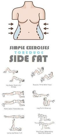 How to Get Rid of Side Fat and Love Handles Fast At Home. Try these Exercises for Side Fat Today and Lose 10 Pounds in 2 weeks. diet workout how to get Fitness Workouts, Fitness Diet, At Home Workouts, Fitness Motivation, Health Fitness, Yoga Fitness, Shape Fitness, Back Workout At Home, Fitness Weightloss