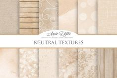 Neutral Background Textures Graphics **This item is now available in the 192 Texture Bundle! Find it here:**https://creativemarket.com/ by Avenie Digital