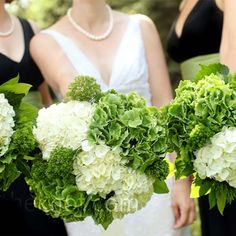 full bouquets of whi