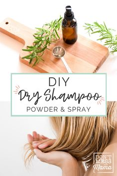 Switch to Non-toxic Dry Shampoo for healthier hair with this easy DIY dry shampoo recipe. This dry shampoo with essential oils can be made as a powder or spray - perfect for busy mom life! Best Essential Oil Diffuser, Tea Tree Essential Oil, Essential Oils, Homemade Dry Shampoo, Diy Shampoo, Natural Beauty Tips, Natural Hair Care, Natural Skin, Diy Beauty Books