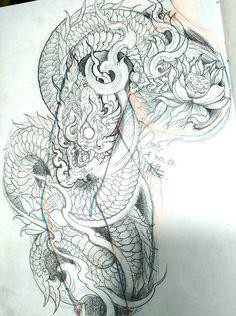 Khmer Tattoo, C Tattoo, Sak Yant Tattoo, Money Tattoo, Thai Tattoo, Koi Tattoo Design, Dragon Tattoo Designs, Dragon Head Tattoo, Cambodian Art