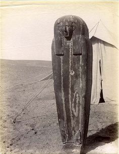Hedjkheperre Setepenre Takelot I was a son of Osorkon I and Queen Tashedkhons who ruled Egypt for 13 Years according to Manetho. Takelot would marry Queen Kapes who bore him Osorkon II. -  original photo of a sarcophagus found during an early expedition by archeologists
