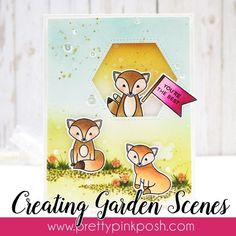 Papell with Love: Creating Garden Scene with Pretty Pink Posh