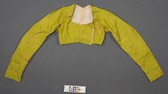 Arles, Museon Arleton, item 2003.0.6035, 10369 (Old No inventory) 4752 (Old No. inventory). c1804-15. Silk spencer with cotton lining.