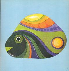 """Original title """"Bemalte Steine,"""" 1973"""