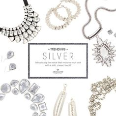 """You love """"SILVER"""" jewelry. We have earrings, bracelets, necklaces & rings.  Go to my face book business page-  Diane's Unique Styles Just For You, and click on """"Shop Now""""."""
