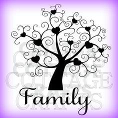 Family Tree SVG FILE by CristysCottageCrafts on Etsy