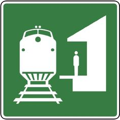 Street  Traffic Sign Wall Decals  Train Station Symbol Sign  48 inch Removable Graphic ** Check this awesome product by going to the link at the image.