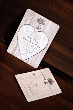 Elegant Woods Wedding Invitation - SAMPLE - 9260901-I. $5.00, via Etsy.