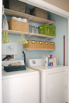 laundry room closet makeover, closet, diy, home decor, laundry rooms Laundry Closet, Laundry Room Organization, Small Laundry, Laundry Room Design, Laundry Rooms, Laundry Area, Laundry Drying, Basement Laundry, Mud Rooms
