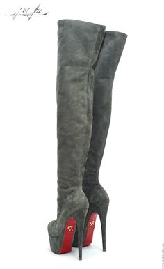 Yarose Shulzhenko made in Italy luxury shoes, high heels, sneakers, bags, boots and much more. Thigh High Boots Heels, Stiletto Boots, Hot High Heels, Heeled Boots, Bootie Boots, Sexy Boots, Pumps, Shoes Heels, Shoe Types