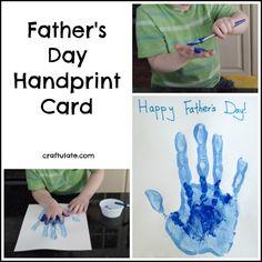 Father's Day Handprint Card - a lovely keepsake