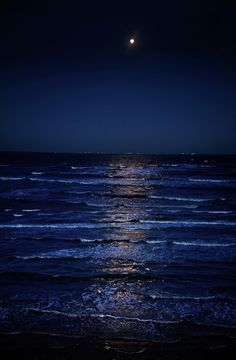 BLUE WATERS, SEA AT NIGHT