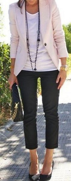 Casual blazer outfit for women (69)