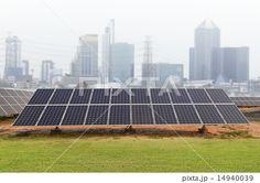 Solar energy plants and blue sky