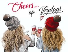 Good morning💕 Illustration by me🍁☕️ - Good Morning Bff Pictures, Best Friend Pictures, Best Friend Quotes, Wife Quotes, Mood Quotes, Happy Quotes, Best Friend Wallpaper, Foto Top, Drawings Of Friends