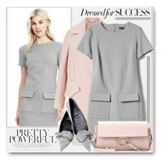 """Dressed for Success!"" by brendariley-1 ❤ liked on Polyvore featuring Banana Republic, Gucci, Chloé, dress, shift, aline and BananaRepublic"