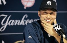 He is cute. He is one of the best baseball players that ever lived. A class act all around.