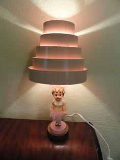 Vintage bedroom doll lamp