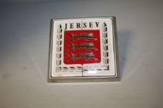 1970s Jersey Car Badge Excellent Condition With Fitting Screw 80mm by 80mm
