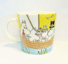 Arabia Finland Moomin mug Sailing with Nibling & Tooticky, Seasonal mug 2014