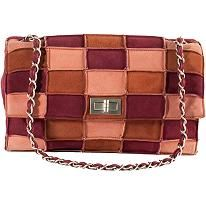Chanel 2.55 Patchwork Suede Flap Shoulder Handbag