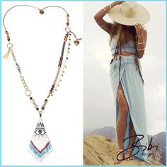 Light blue inspiration by Bibi Bijoux Blue Necklace, Tassel Necklace, Summer Collection, Light Blue, Product Launch, Lily, Jewellery, Rose, Colors